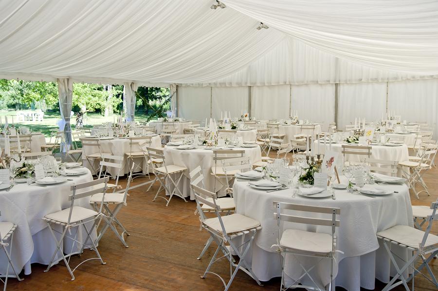 Skön miljö för ett romantiskt bröllop