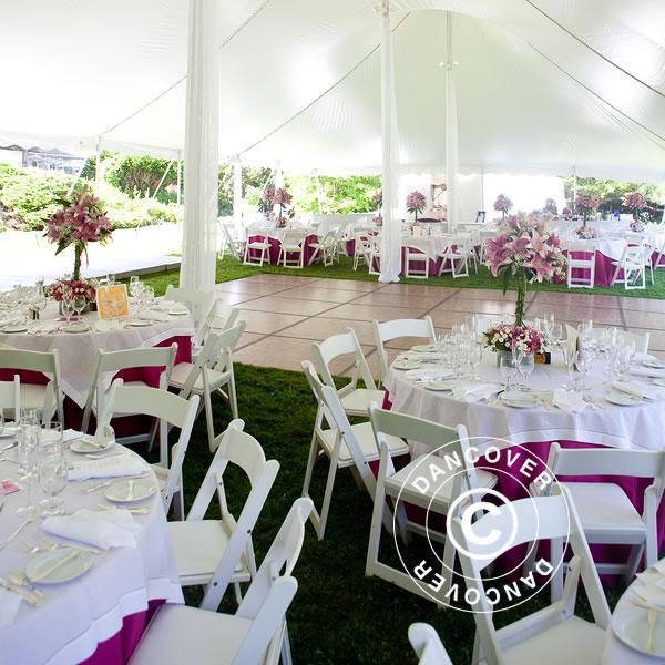 Hopfällbara bord och hopfällbara stolar för alla kommande event