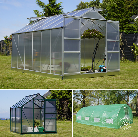 Polytunnelväxthus och polykarbonatväxthus