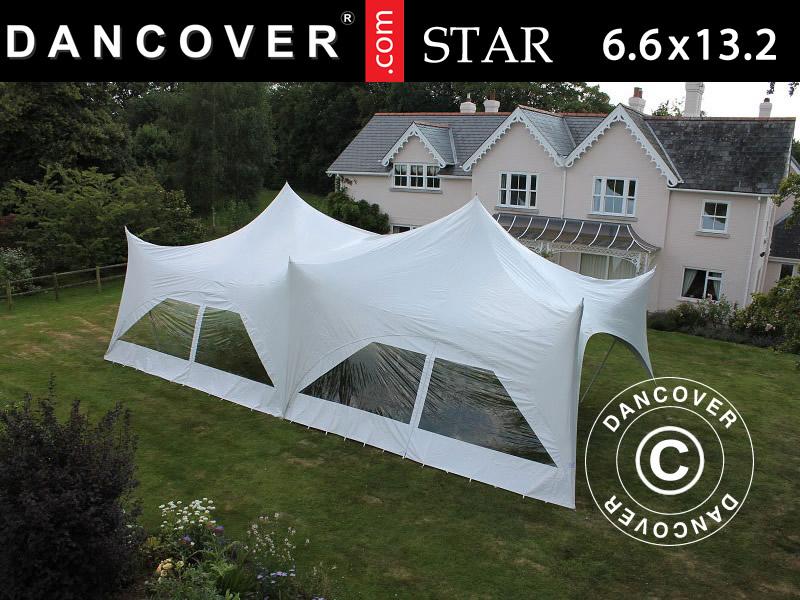 """Pole tent """"Star"""" – vårt nya, eleganta och organiska partytält"""