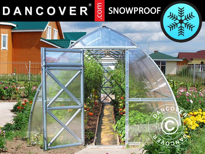 Snösäkra växthus för snöiga och kalla områden