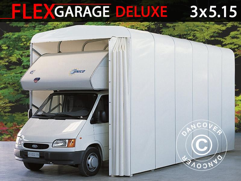 Husvagnar och husbilar förvaras bäst i ett förvaringstält